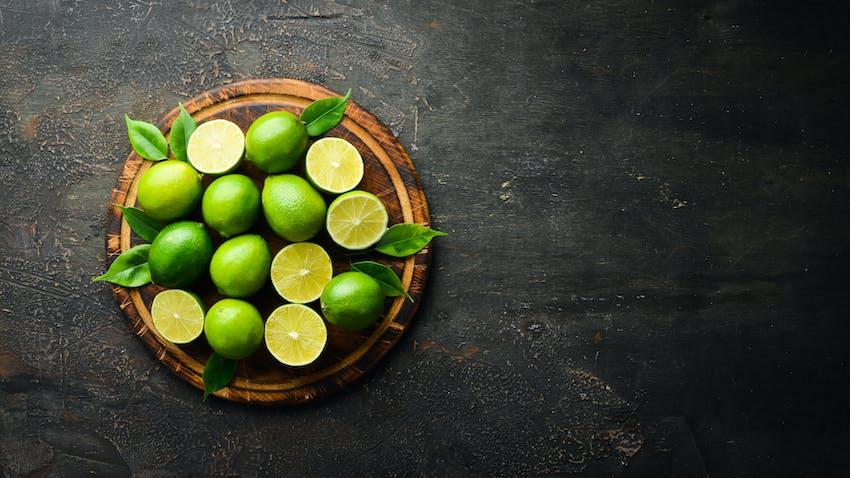 Lime juice is a key ingredient in a margarita