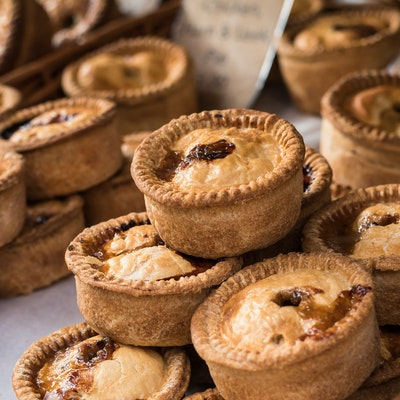 selection of English pies