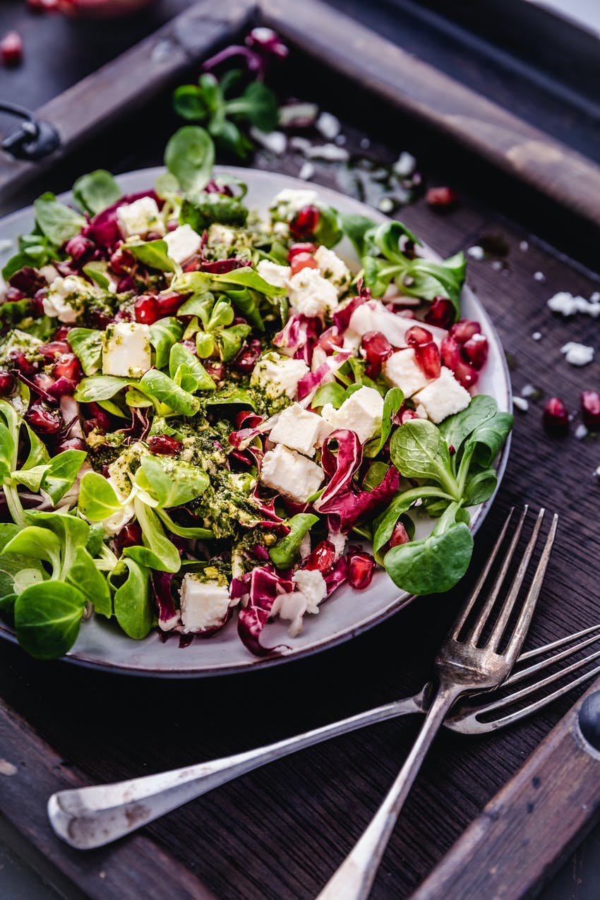 A pomegranate salad with extra crunch