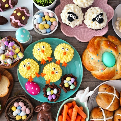 A selection of Easter foods for your menu