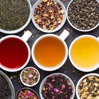 A selection of the world's most famous teas