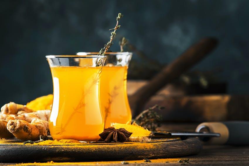 Turmeric tea - one of the world's most famous teas