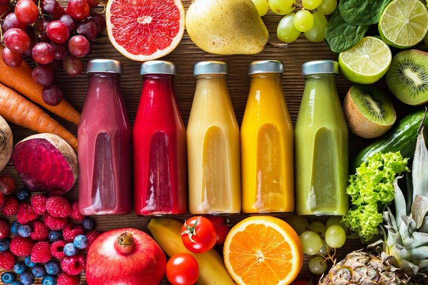 fruit juice and smoothies