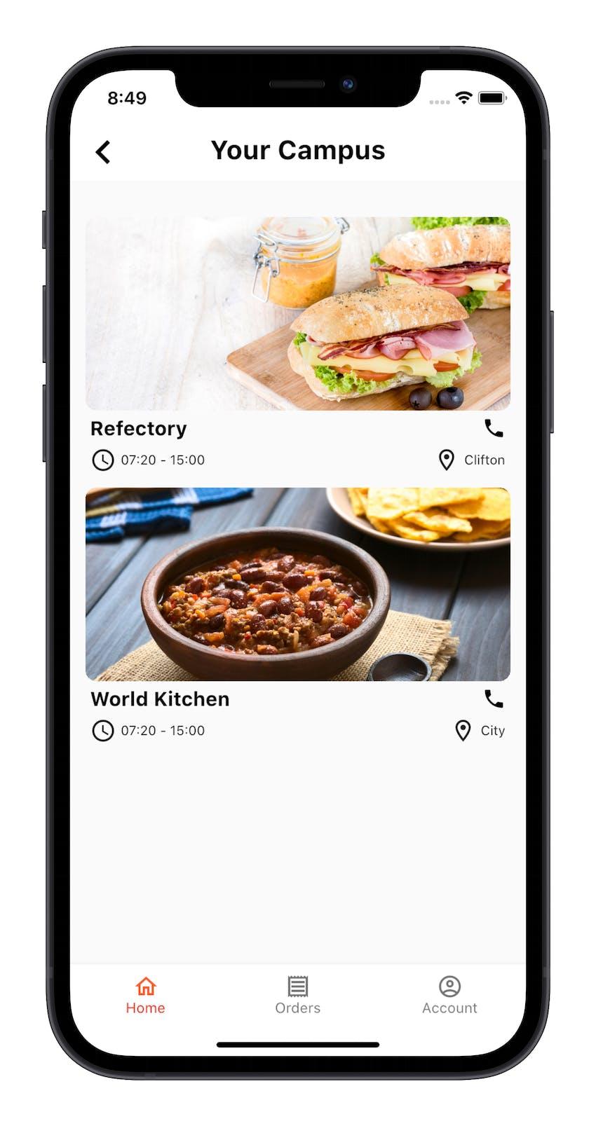 Erudus Integration Partner Dill in app Campus selector