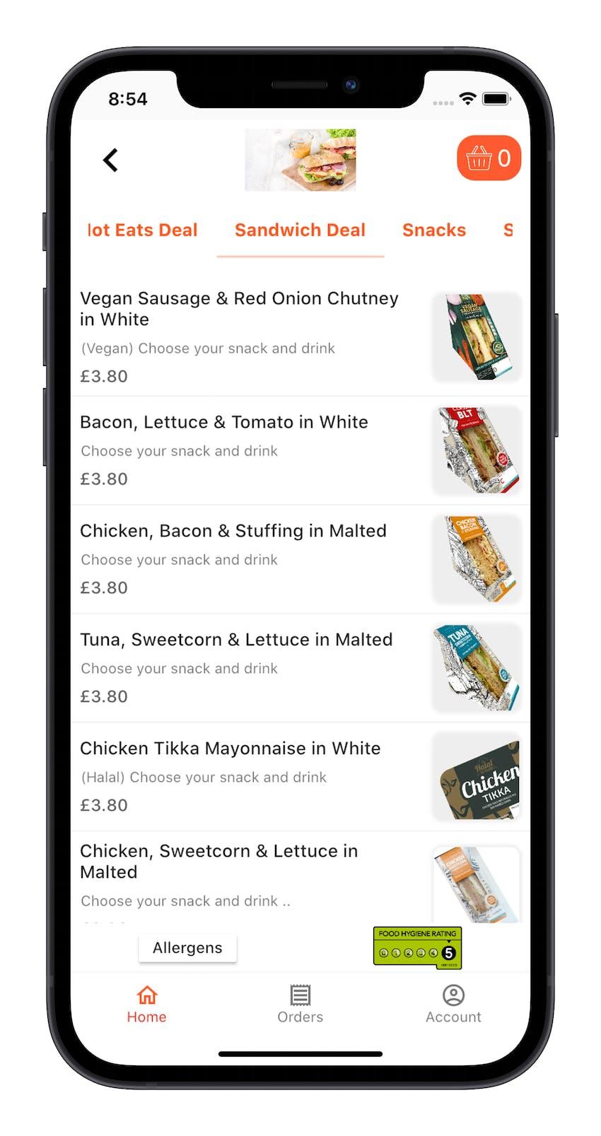 Erudus Integration Partner Dill in app Menu