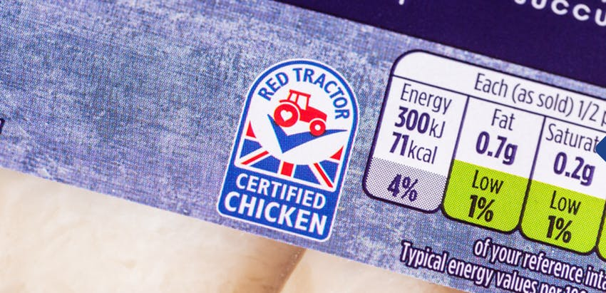 Red Tractor Certification - Red Tractor logo on-pack