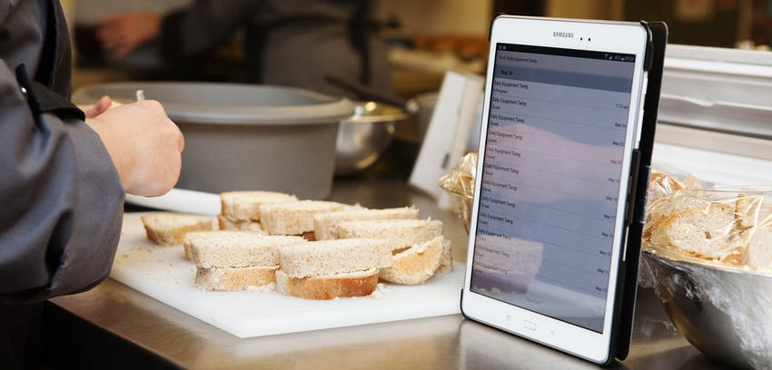 Cypad - New Erudus Integration Partner software being used in the kitchen