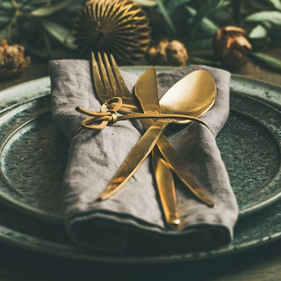 Haute Cuisine Christmas - a table set for dinner
