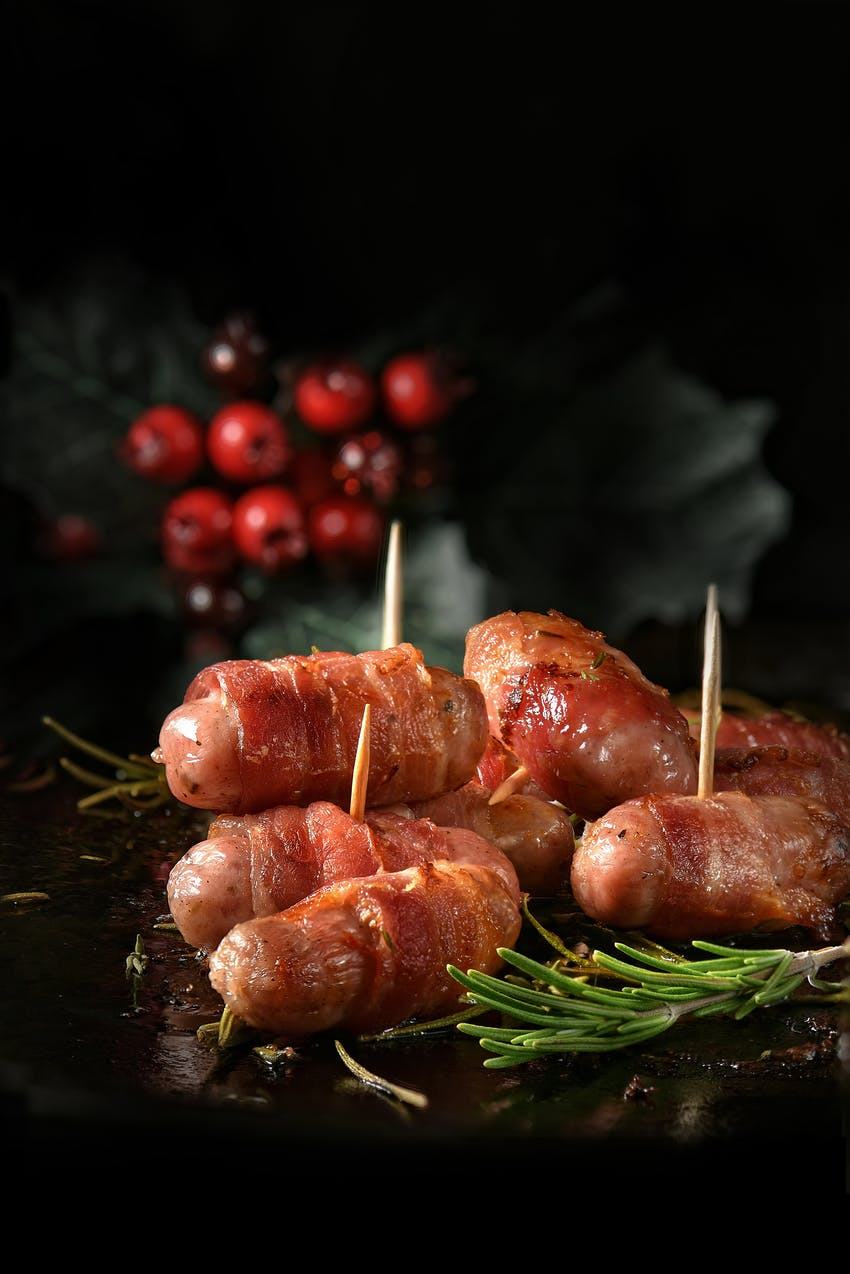 Haute Cuisine Christmas - pigs in blanket canapes