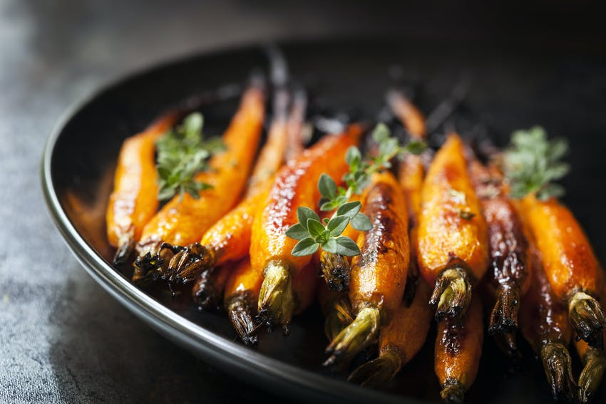 Christmas foods to make now, use later - honey glazed carrots and parsnips