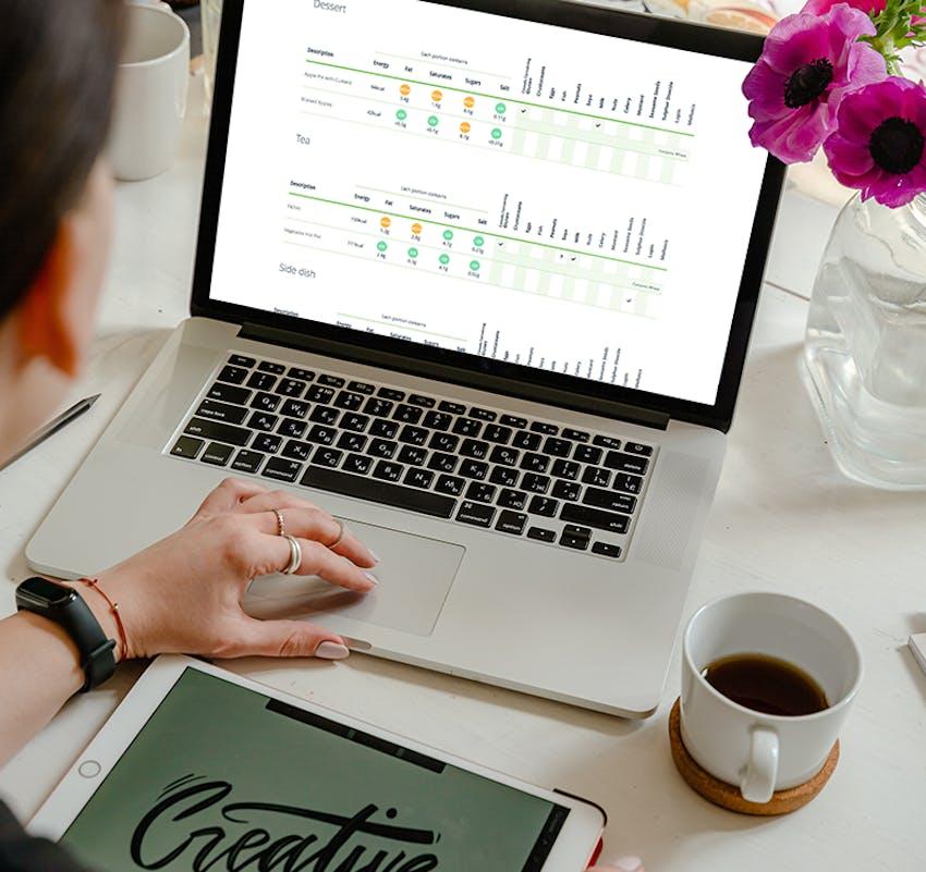 Civica Saffron software on a laptop