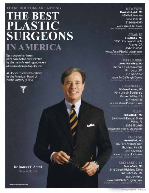 Dr. Antell named among the best plastic surgeons in America