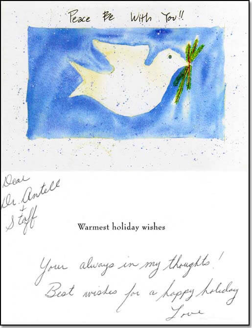 Holiday card from patient.