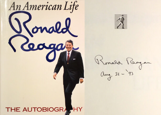 Ronald Reagan signed copy of An American Life Ronald Reagan