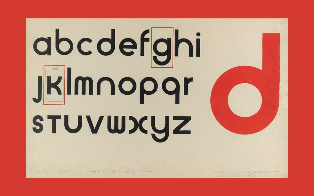 Universal typeface by Herbert Bayer, 1925