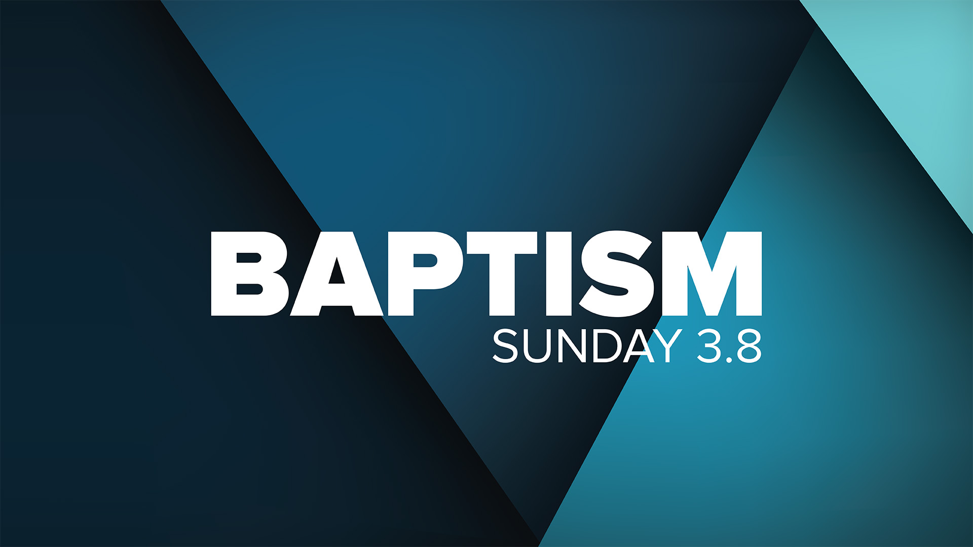 Series: Baptism: October 2018