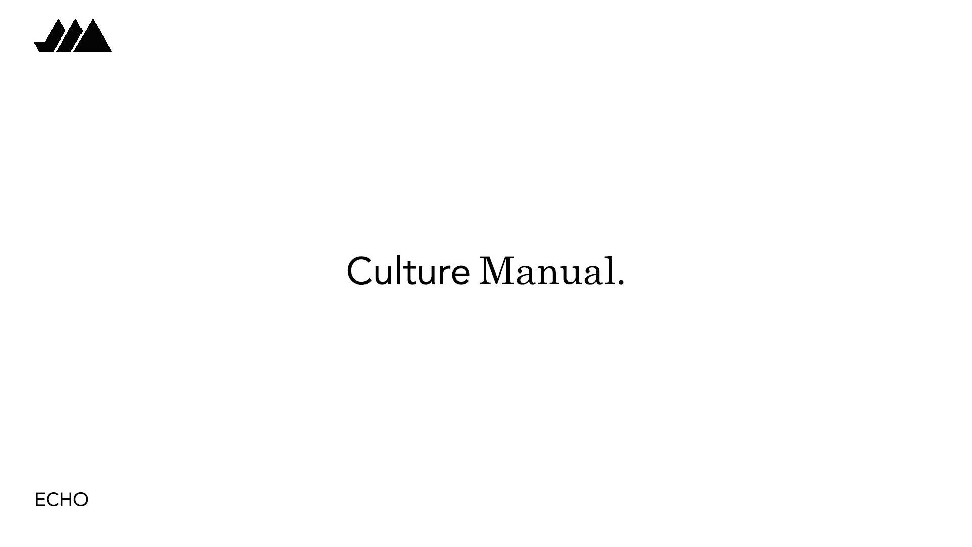 Series: Culture Manual