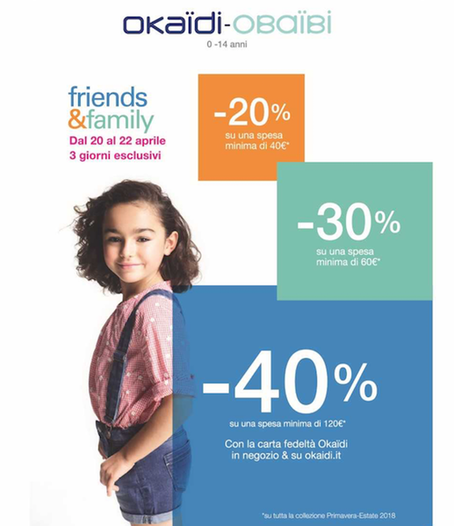 Promo Friends & Family Okaidi