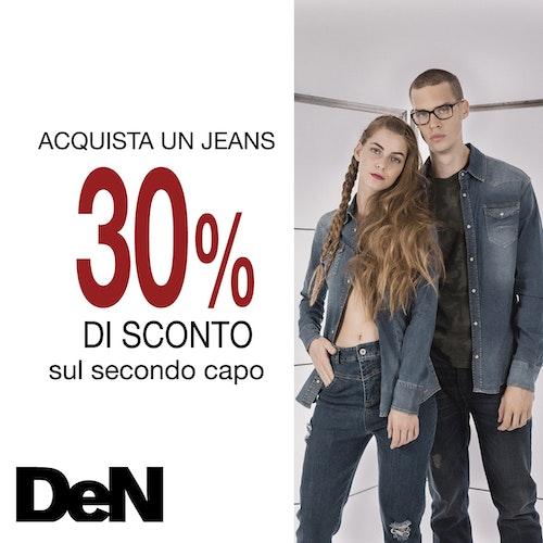 Acquista un jeans 30% di sconto sul secondo capo