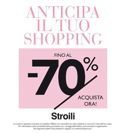 Anticipa il tuo shopping