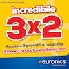 3x2 da Euronics