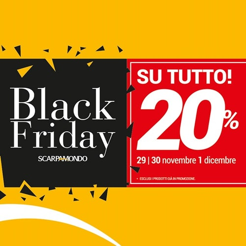 Scarpa Mondo: Black Friday