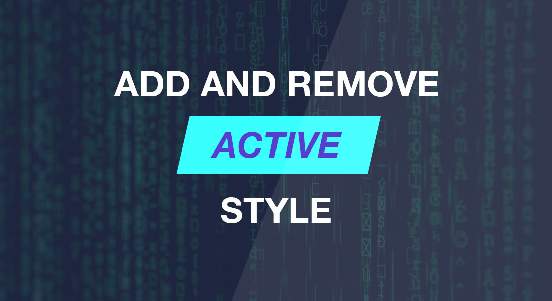 Quick Tips: add and remove active style