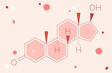Illustration of the testosterone hormone