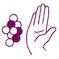 Illustation av en hand som säger nej till hormoner