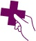 illustration of a hand holding a medical cross