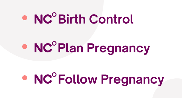 The three Natural Cycles app modes, prevent pregnancy, plan pregnancy and follow a pregnancy
