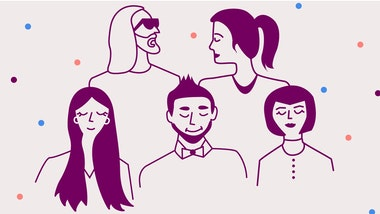 Illustration of 5 different people
