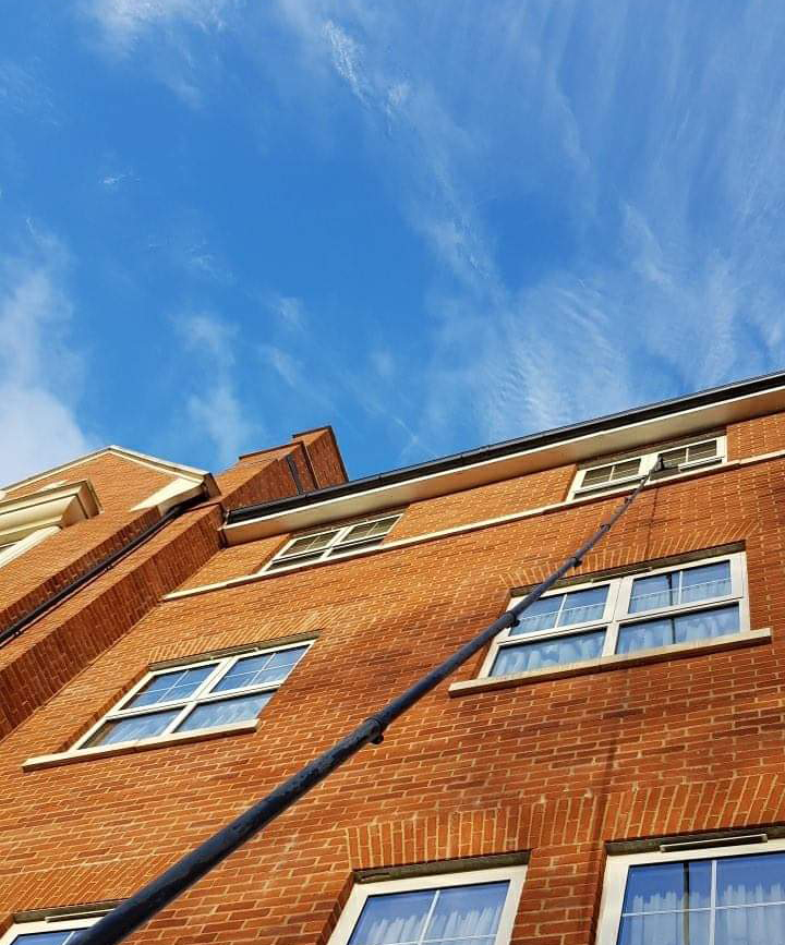 High reach window cleaning in London