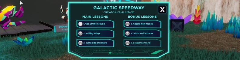 Roblox MAIN LESSONS - Galactic Speedway Creator Challenge