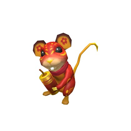Roblox Happy New Year Rat Accessory | Shoulder image
