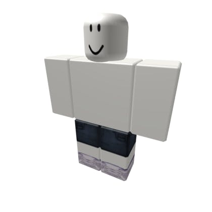 Roblox Jean Shorts with White Shoes Pants image