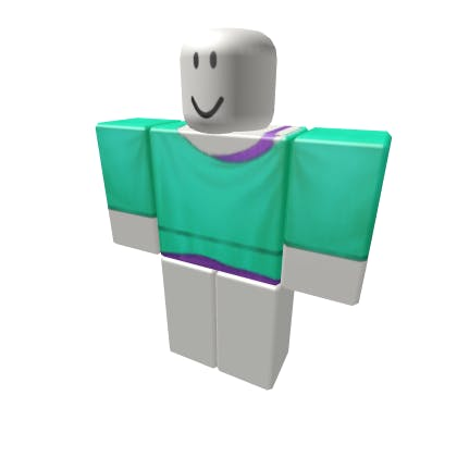 Roblox Purple and Teal Top Shirt image