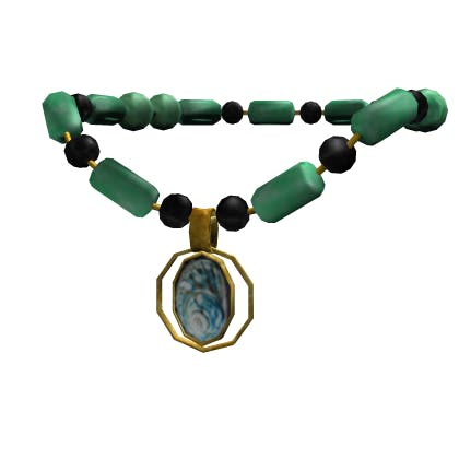 Roblox Jade Necklace with Shell Accessory | Neck image