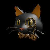 Roblox - Fancy Black Cat Head