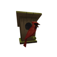 Roblox $10 - Red Cardinal Birdhouse