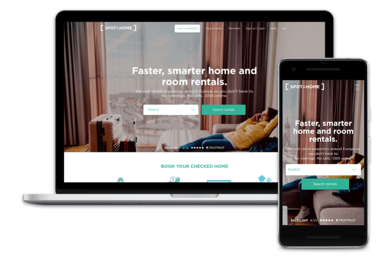 Homepage hero banner test candidate on desktop and mobile