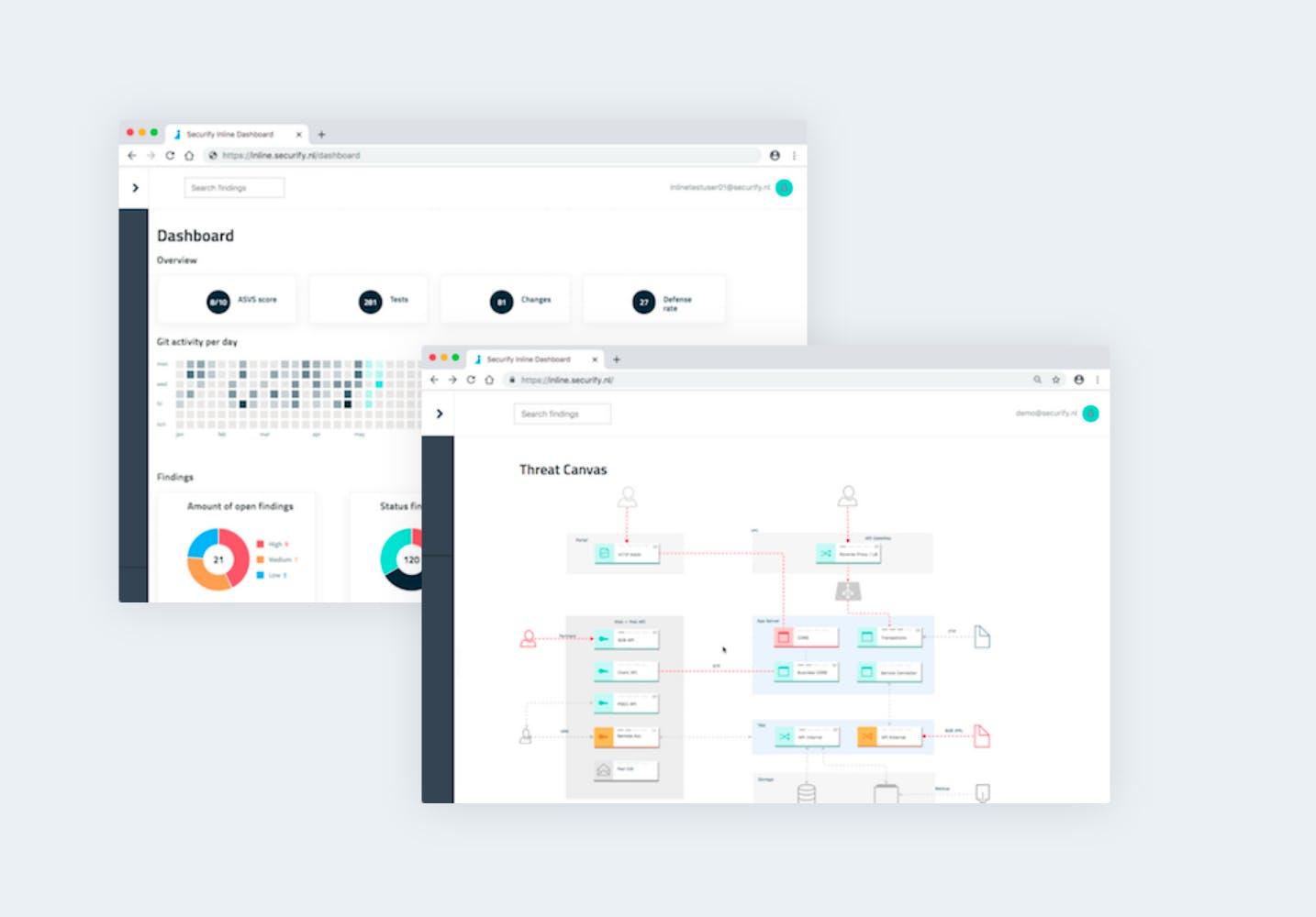 Two dashboard screenshots