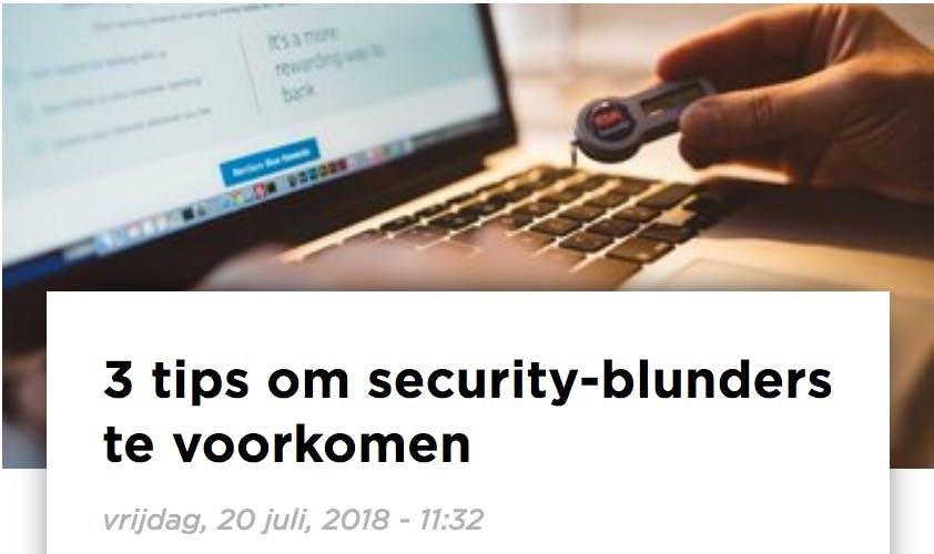 (Dutch) Hoe ontwikkelteams security blunders kunnen voorkomen