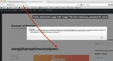 WordPress flaw allows XSS attack via image filenames