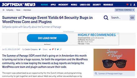 Summer of Pwnage event yields 64 security bugs in WordPress core and plugins