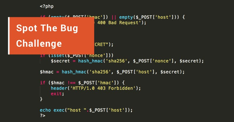 Spot The Bug challenge 2018 warm-up
