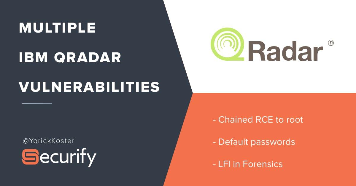 Unauthorized access to QRadar configuration sets via default password