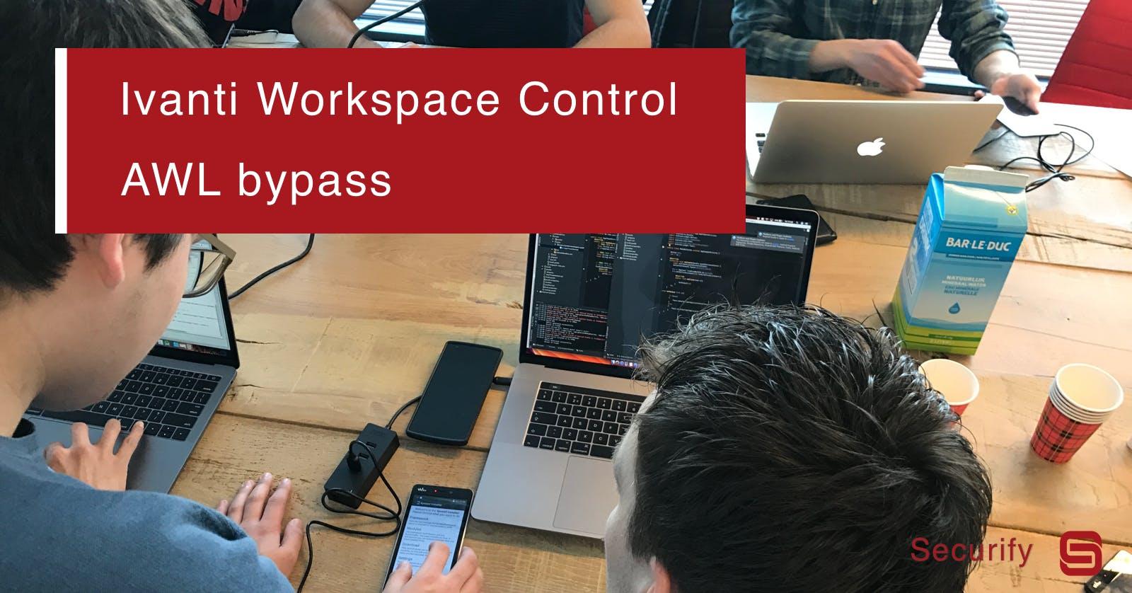 Ivanti Workspace Control Application Whitelist bypass via PowerGrid /RWS command line argument