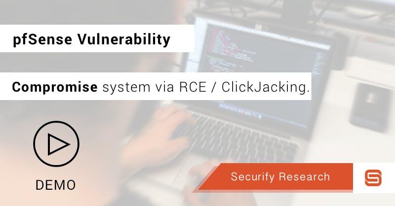 Clickjacking vulnerability in CSRF error page pfSense