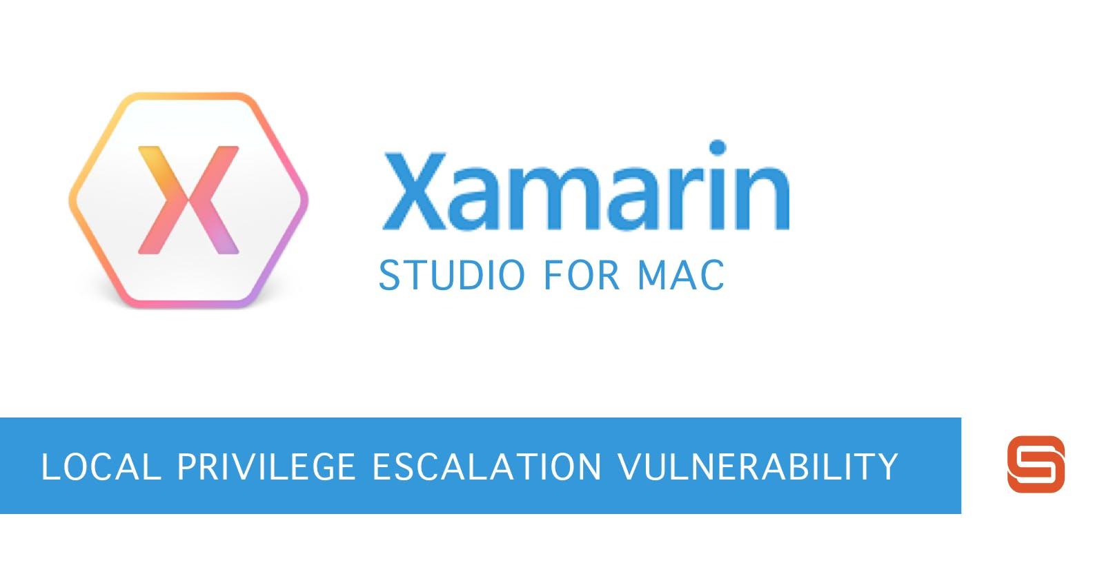 Xamarin Studio for Mac API documentation update affected by local privilege escalation
